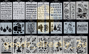 Letter Stencils Alphabet Numbers Craft Scrapbooking Christmas Writing Card Draw