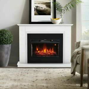 Focal Point Calbourne White Electric Fire suite 872mm H 1140mm W 331mm D -  1583