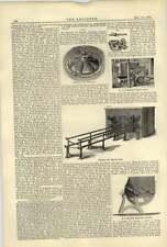 1884 Hurdy-gurdy Mining Wheels Collins Knight Mason 2 Deck Oven