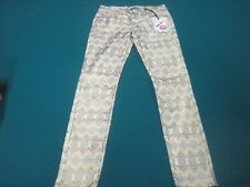 "NWT! HOT KISS SKINNY LILY GOLD SPARKLE COLORFUL JEANS SIZE 5  28"".W x 29 L"""