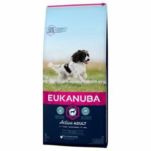 Eukanuba Active Adult Medium Breed Chicken Dry Dog Food - 12kg