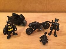 Fisher Price Imaginext DC Catwoman w/ motorcycle, pet cat & Batman w/ Batcycle