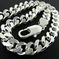 """Necklace Chain Real 925 Sterling Silver S/F Solid Mens Bling Heavy Curb Link 20"""""""