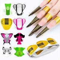 100PCS Nail Art Extension Guide Nail Form Acrylic UV Gel Tips Sticker Tools New