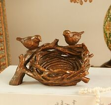 Home Office Study Table Bird Nest Business Card Holder Box Stand Container Case