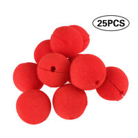 25pcs Foam Clown Nose Circus Party Halloween Costume Play Games Red 5.5cm