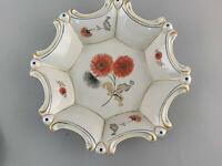 99840725 Porcelain Achtpassige Kuchen-Platte Bowl Hennerberg Thuringia