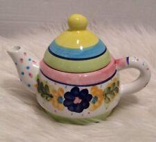 Bella Casa by Ganz Teapot Ceramic Floral