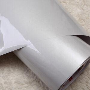 5m Grey Wallpaper Self Adhesive Vinyl Cupboard Door Cover Kitchen Cabinet Wrap