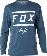 Fox Listless LS Tech Tee blau L langarm T-Shirt