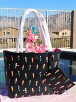 🌸 NWT Kate Spade Arch Flock Parrots Party Large Reversible Tote Bag & Pouch NEW
