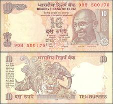 India 10 rupias  2009   Pick#95d  SC / UNC