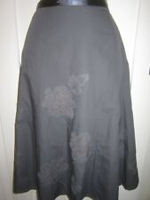 Ladies size 8 Next dark grey net floral embellishment long winter skirt