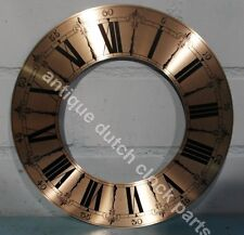 """REPLACEMENT SILVERED DIAL CHAPTER RING FOR CLOCK 10"""" 25,5 cm"""