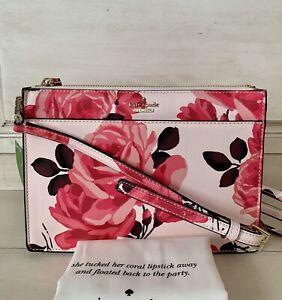 NWT Kate Spade Cameron Street Roses Clarise Flower Crossbody Bag RP $198