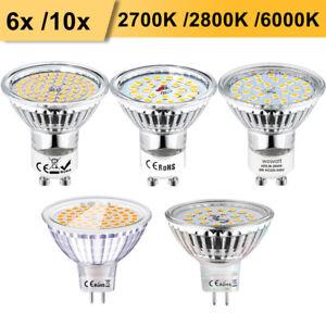 GU10 MR16 LED GU5.3 Lampe 5W 6W Ersatz für 50W Warmweiss Kaltweiss 120° 12V 230V