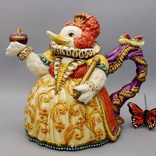 Fitz & Floyd Birdbrains Teapot Queen Duck