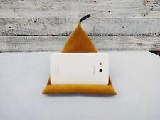 Handmade Tablet holder tablet mustard velvet pillow Ipad cushion stand