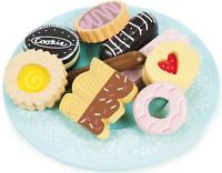 Le Toy Van HONEYBAKE BISCUIT & PLATE SET Child/Kids Wooden Play Food Cafe BN