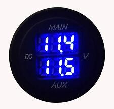 10V~ 60V Blue Led Dual Voltage Volt Meter Monitor Car Motorcycle Boat Voltmeter