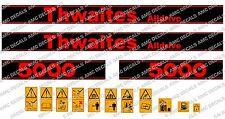 THWAITES ALLDRIVE 5000 KIPPER-AUFKLEBER-AUFKLEBER-SATZ