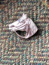 Sterling Silver 925 Horse Head Stock Pin Brooch Brand New