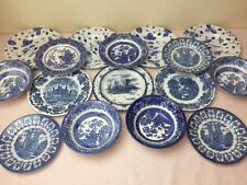 Side Plates 1960-1979 Blue & White Transfer Ware Pottery