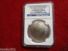 2015 New Zealand Gilded Gold Silver Coin 1 oz. ICC Cricket Cup NGC PF70 bullion