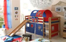 Kinder-Bettgestelle ohne Matratze mit Natur-Piraten zum Zusammenbauen