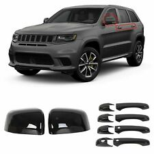 Black Mirror Covers +Door Handle Covers For Jeep Grand Cherokee & Dodge Durango