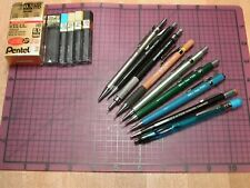 Vintage Pentel Mechanical Pencil Lot .9 .7 .5 With Extra Leads