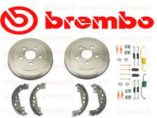 Toyota Corolla Prius Brembo Rear Brake Drums + Shoes + Hardware Kit