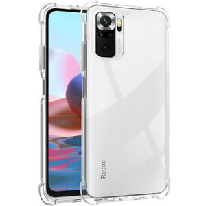 For Xiaomi Redmi Note 10 / 10 Pro Max Shockproof Clear Silicone TPU Case Cover