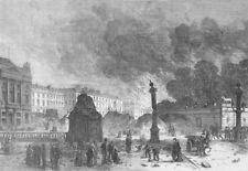 FRANCE. The Place de la Concorde, antique print, 1871