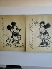 Vintage inspired Walt Disney Minnie & Mouse Mickey Canvas Wall Decor Artissimo