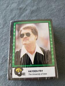 1992 Iowa Hawkeyes football card set - sealed, Hayden Fry