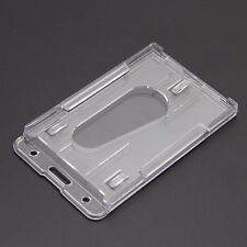 New Hard Plastic ID Access Card Cover Credit Card Case Badge Holder Double Side