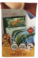 NEW Disney The Lion King Kids 3 Piece Twin Size Bed Microfiber Bedding Sheet Set