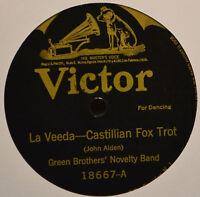 Green Brothers Novelty Band La Veeda Castilian Fox Trot 78 Batwing 18667 Desert