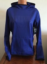 Nike Womens Large L Blue All Time Tech Graphic Hoodie Pullover Sweatshirt 685484
