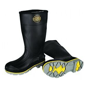 Honeywell Servus 75109 Size 11 Men's Steel Rubber Boot, Black
