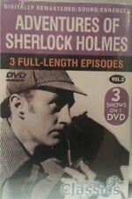Adventures of Sherlock Holmes Vol. 2  3 Full Episodes   DVD   BRAND NEW