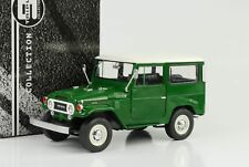 Toyota Land Cruiser 1967 fj40 verde techo blanco 1:18 triple 9 DIECAST