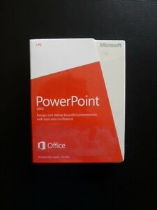 Microsoft PowerPoint 2013 Full UK Retail 32/64-bit English 079-05835 NEW