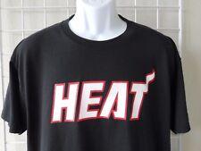 "MIAMI HEAT Men's T-Shirt Size Large Black with (LeBron) ""JAMES"" & ""6"" On Back"