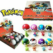 12Pcs Pokemon GO Pikachu Ball Set Pokeball Figures Gifts Pikachu Monster Toys UK