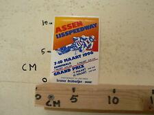 STICKER,DECAL ASSEN IJSSPEEDWAY HALVE FINALE WK 1996 HOLLAND A