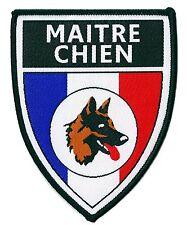 Ecusson Maitre Chien Cynophile Sécurité tissé patche thermocollant patch insigne