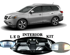 LED Package - Interior + License Plate + Vanity for Nissan Pathfinder 15pcs