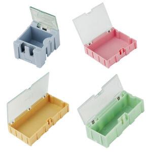 50/100x Electronic Case Components Boxes Patch Laboratory Storage Box SMT SMD